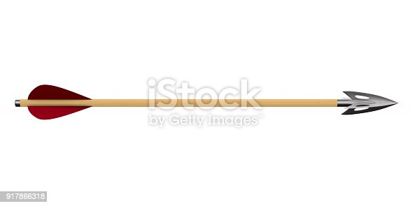 istock Arrow on white background. Isolated 3D illustration 917866318