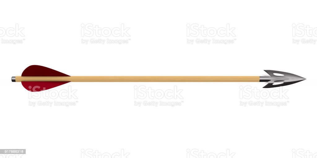 Arrow on white background. Isolated 3D illustration stock photo