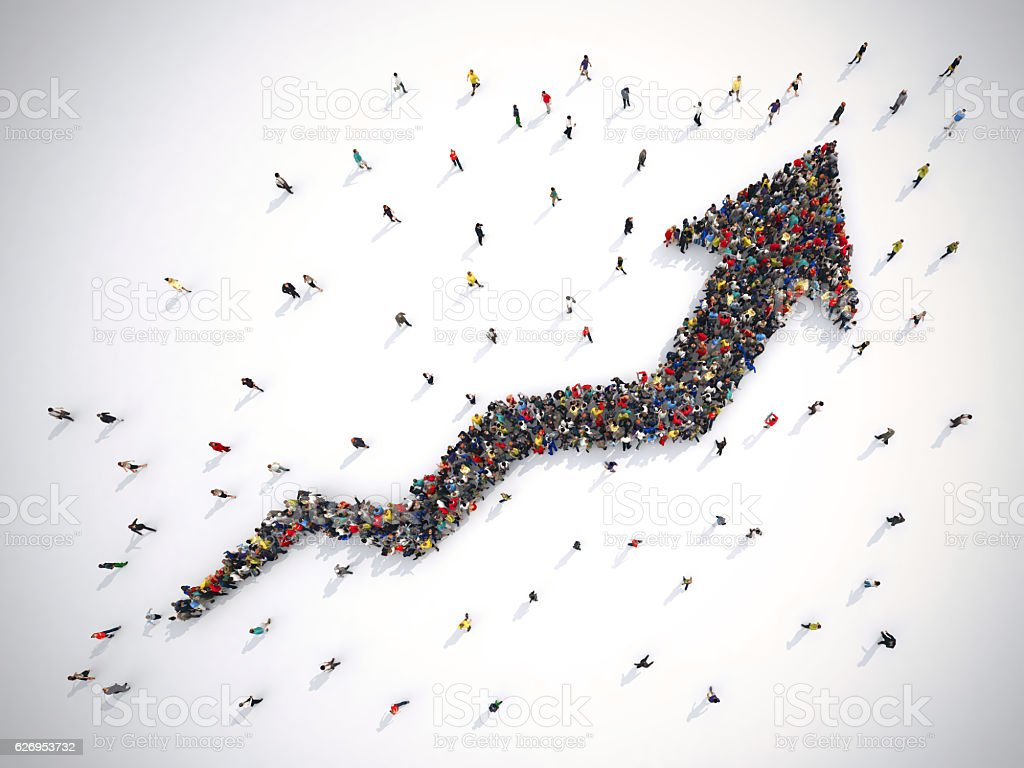 Arrow people stock photo