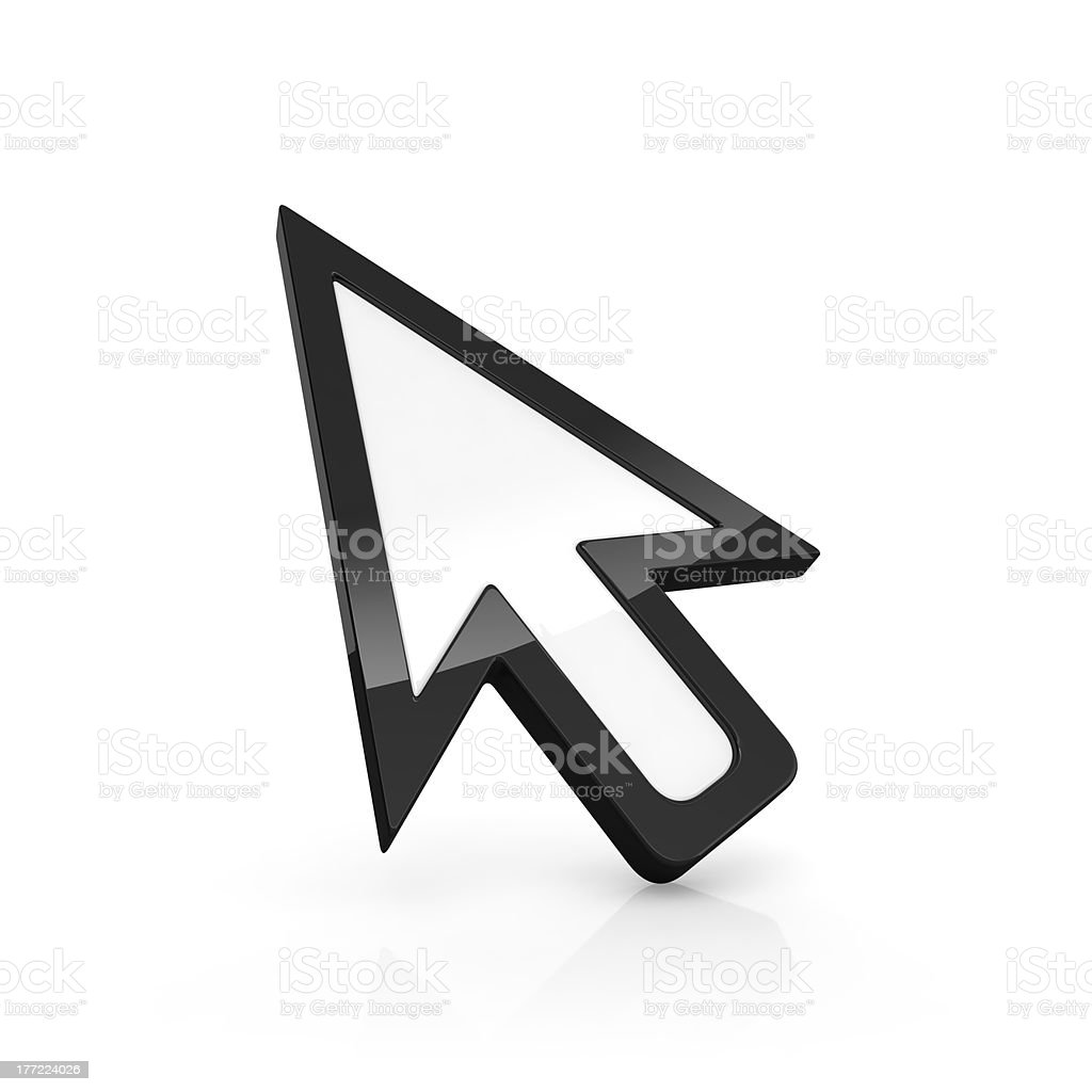 Arrow pointer stock photo