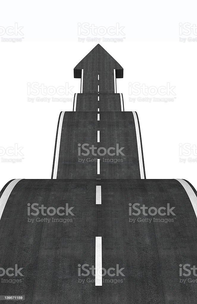 arrow road royalty-free stock photo