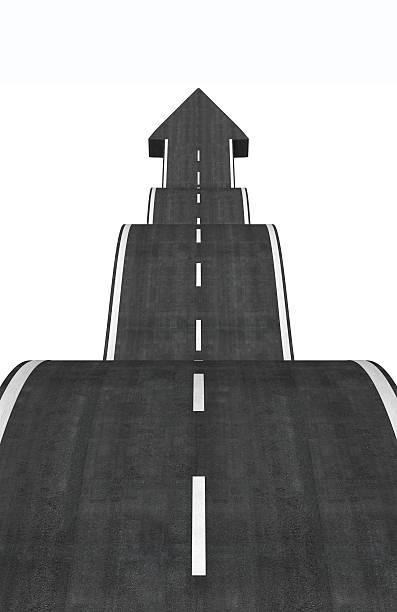 arrow road stock photo