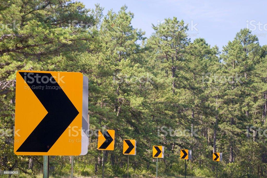 Freccia segni-scena di strada di paese foto stock royalty-free