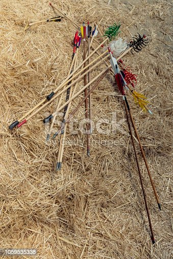 istock Arrow rprojectile weapon system archery 1059535338