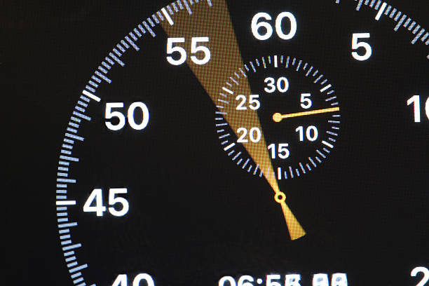 arrow running stopwatch - stop watch stock photos and pictures