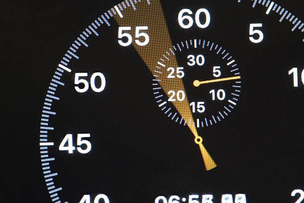 arrow running stopwatch stock photo