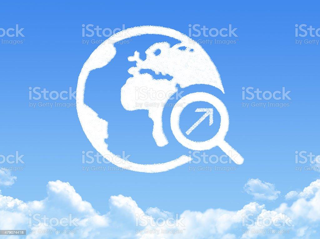 arrow search cloud shape stock photo