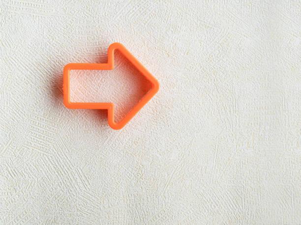 Arrow shaped, arrow right, Success arrow icon concept,arrow moving right stock photo