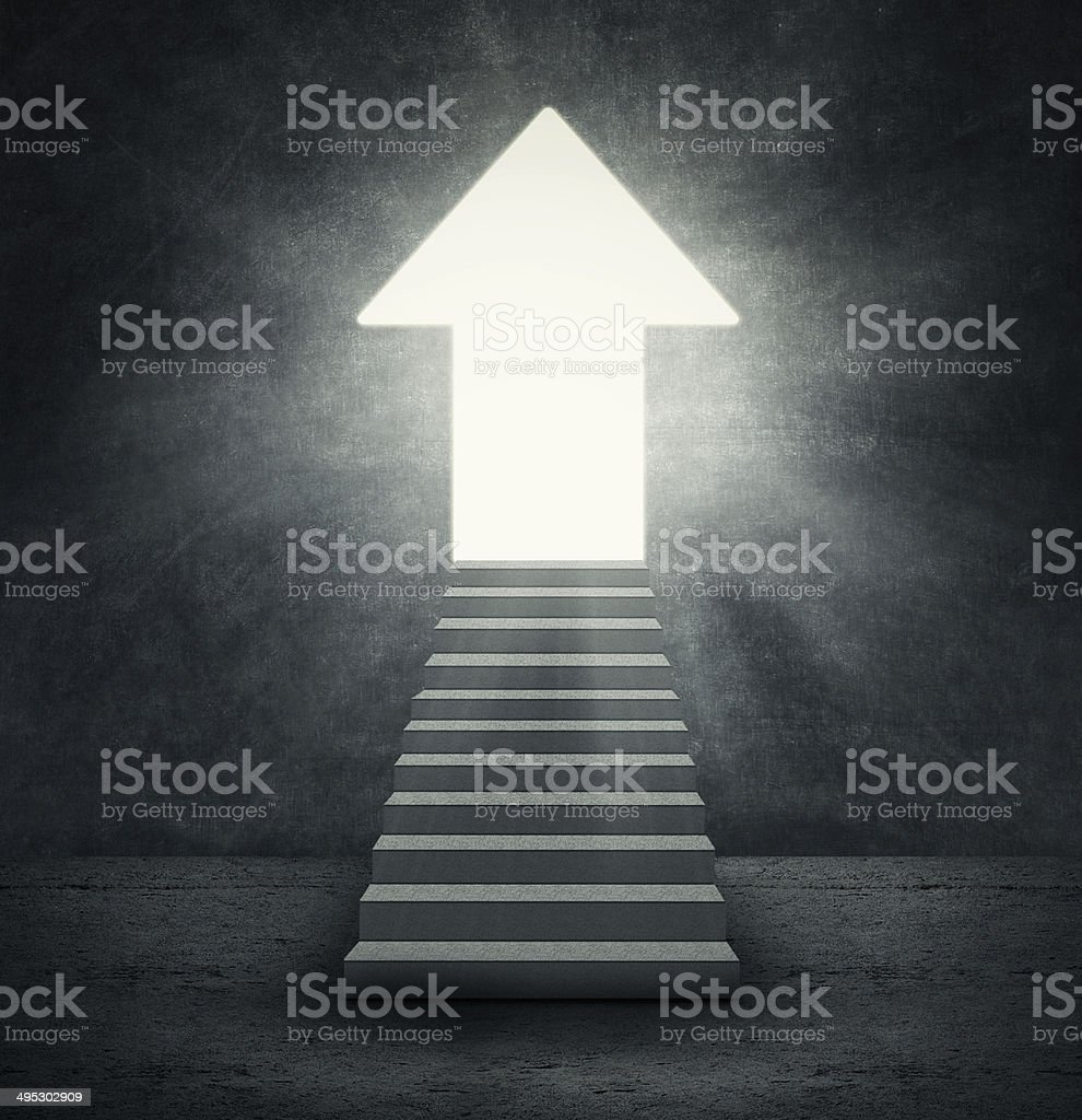 Arrow shaped door royalty-free stock photo