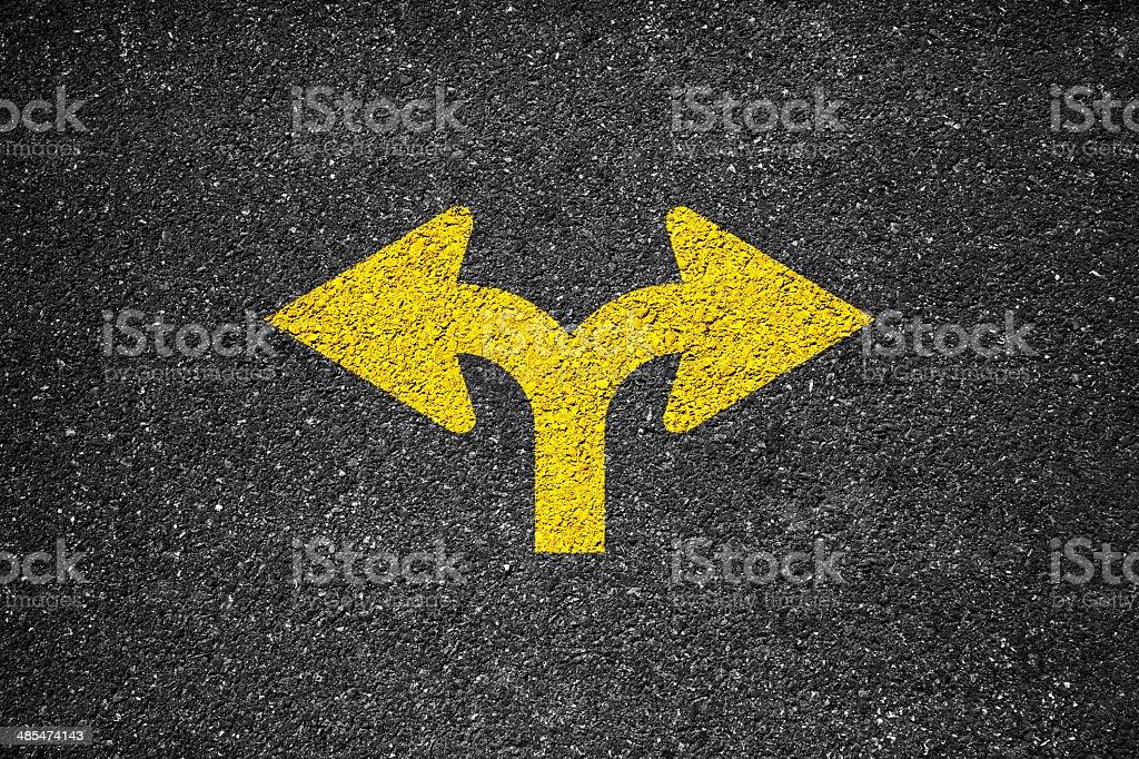 Arrow Sign On The Asphalt royalty-free stock photo
