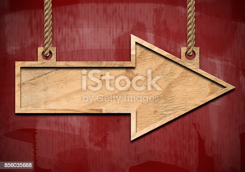 istock Arrow sign /  Red board  concept (Click for more) 856035668
