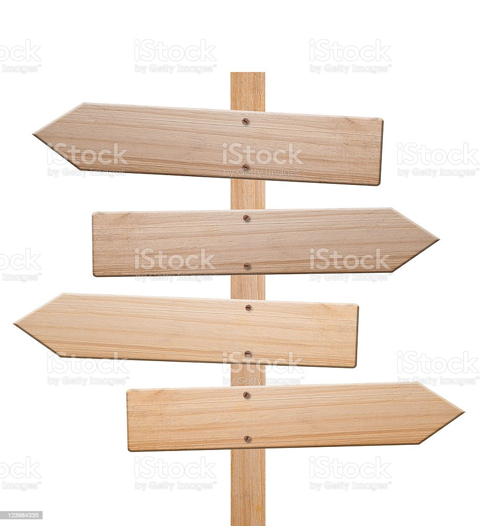 Arrow signs isolated, with clipping path. stock photo