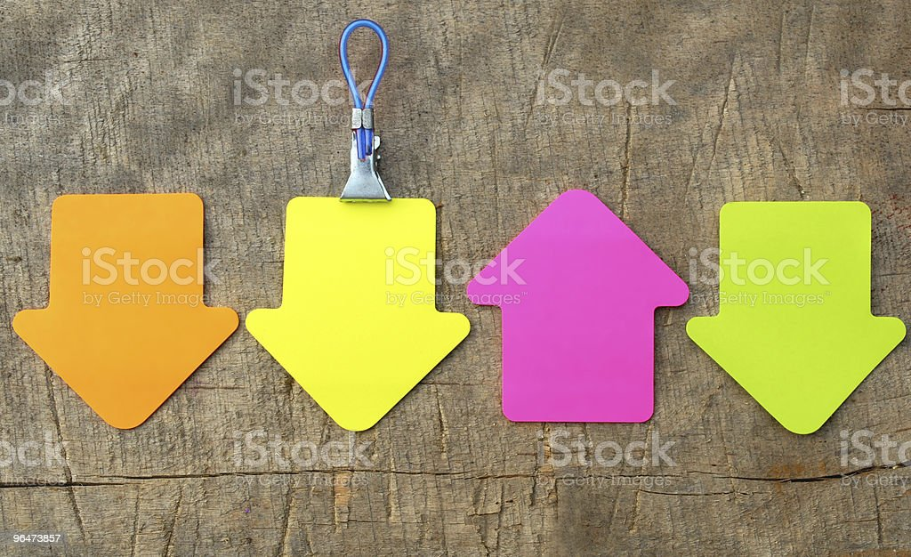 Arrow sticky note royalty-free stock photo
