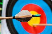 archery, aim the arrow hit the target