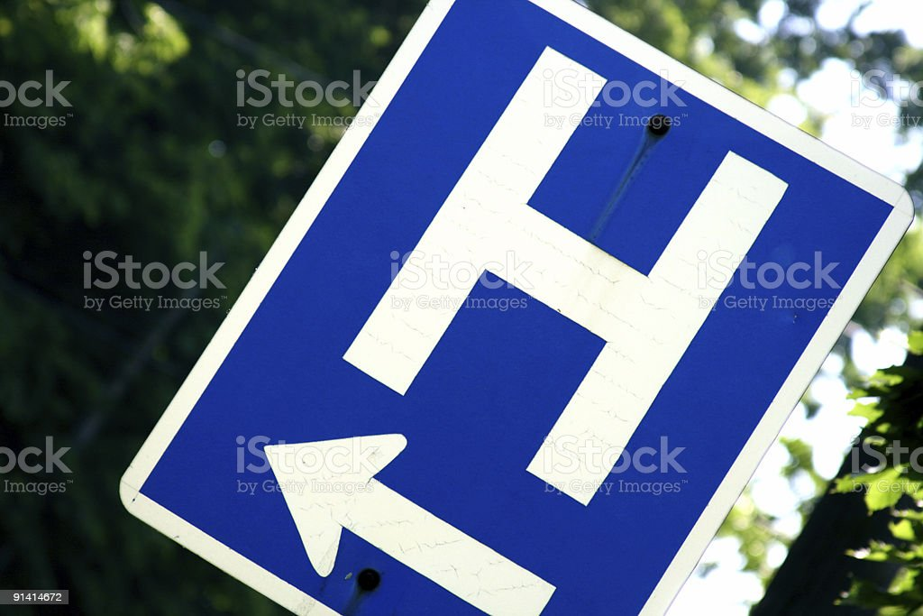 Arrow to the Hospital stock photo