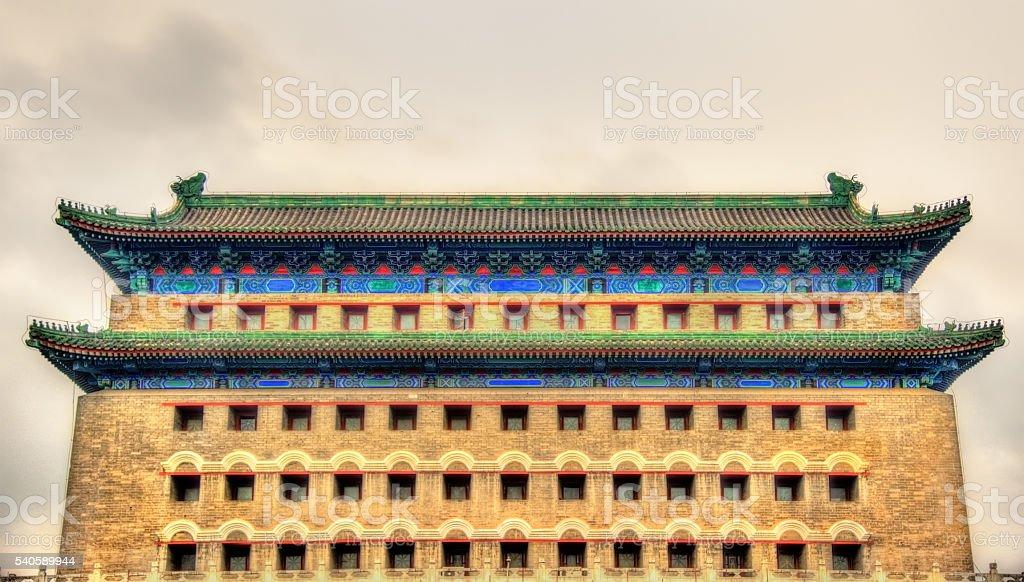 Arrow Tower in Zheng Yang Gate - Beijing stock photo