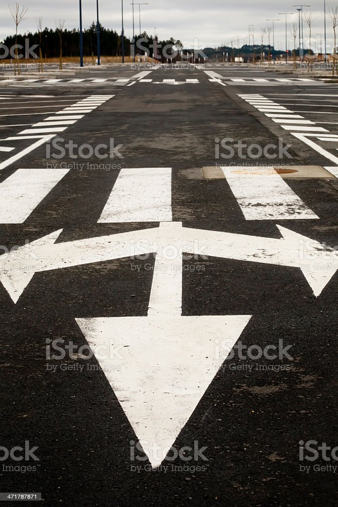 Arrow traffic sign royalty-free stock photo