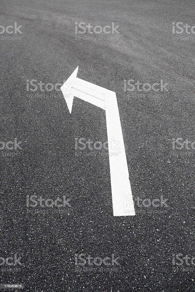 arrow turn left royalty-free stock photo