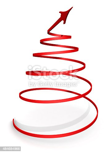 istock Arrow twisted into a spiral 484684966
