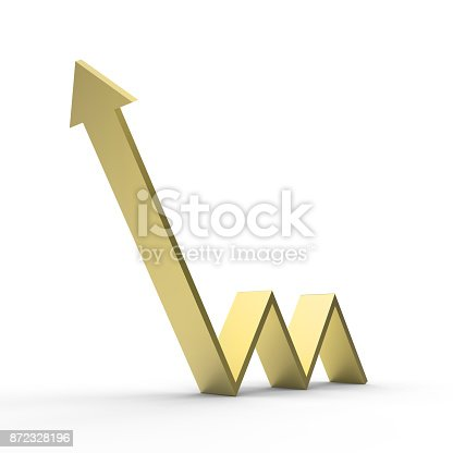 istock Arrow Upward Direction 872328196