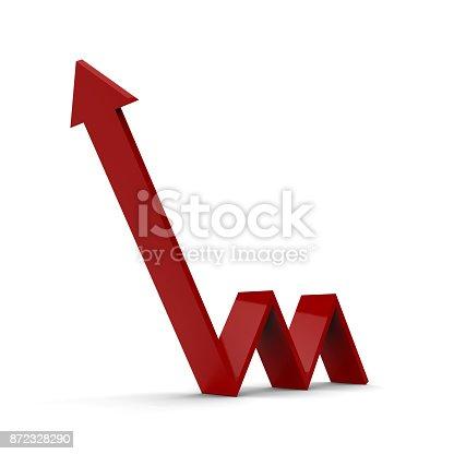 istock Arrow Upward Direction 872328290