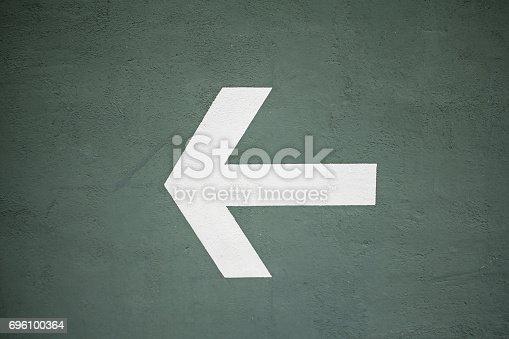 istock Arrow Wall 696100364