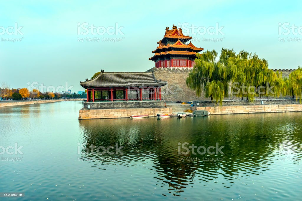 Arrow Watch Tower Gugong Forbidden City Palace Beijing China Royalty Free Stock Photo