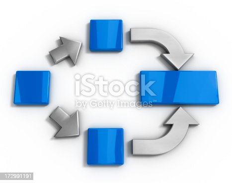 istock Arrows and blocks 172991191