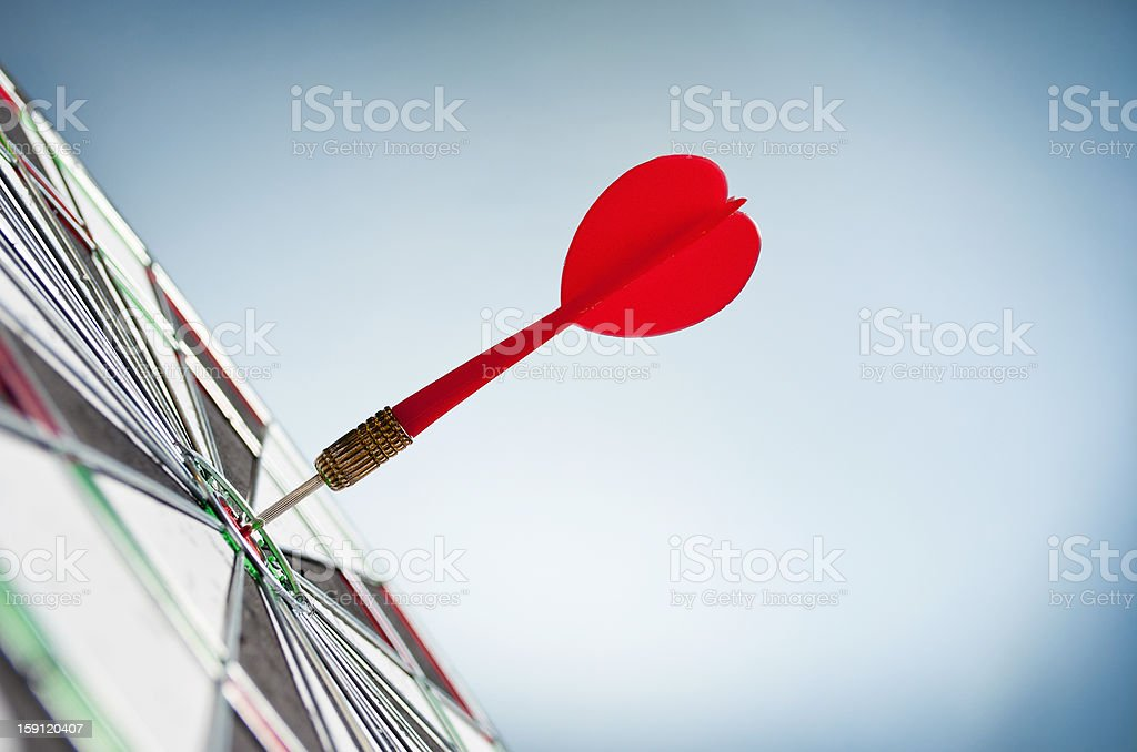 arrows and darts target stock photo