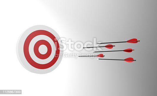 istock Arrows and target. Competition. 1125867300