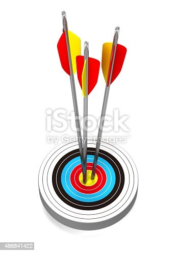 469652019 istock photo Arrows and target 486841422