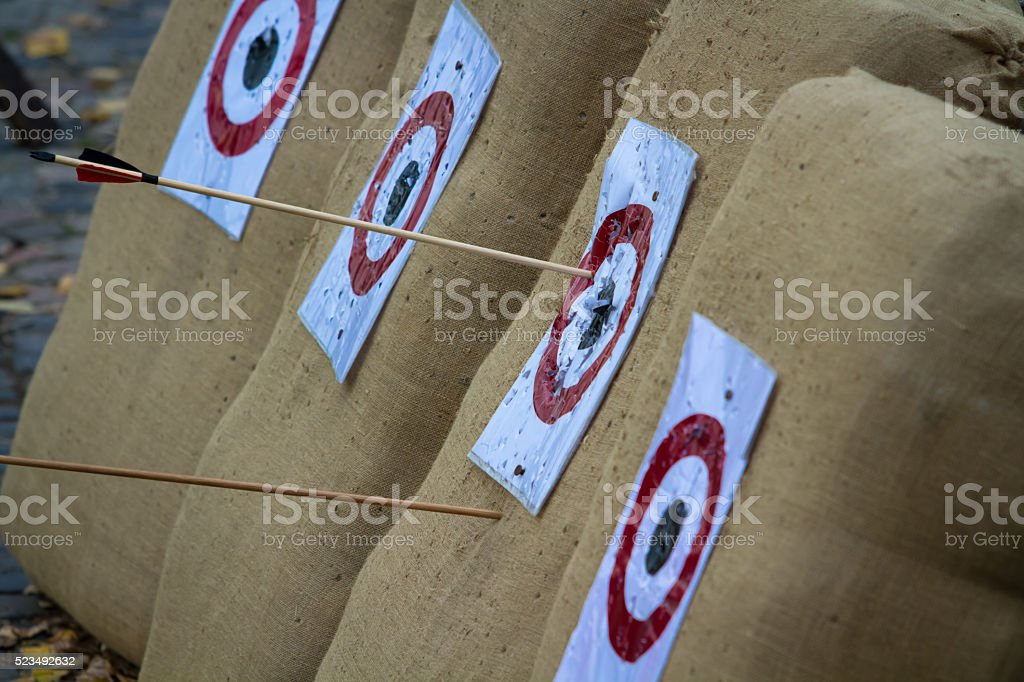 Arrows and targets stock photo