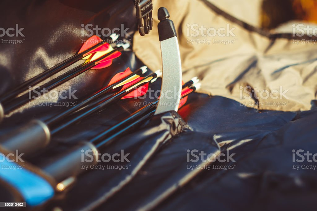 arrows are in the case stock photo