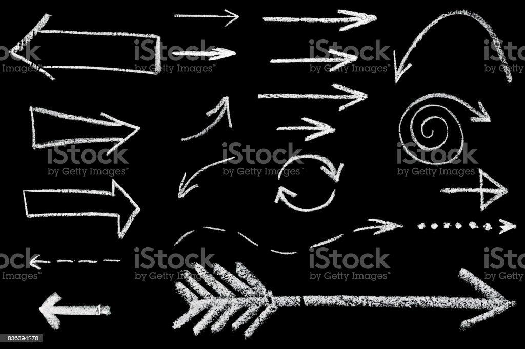 arrows drawn in chalk royalty-free stock photo