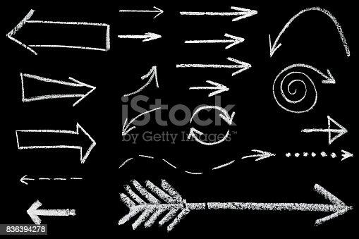 istock arrows drawn in chalk 836394278