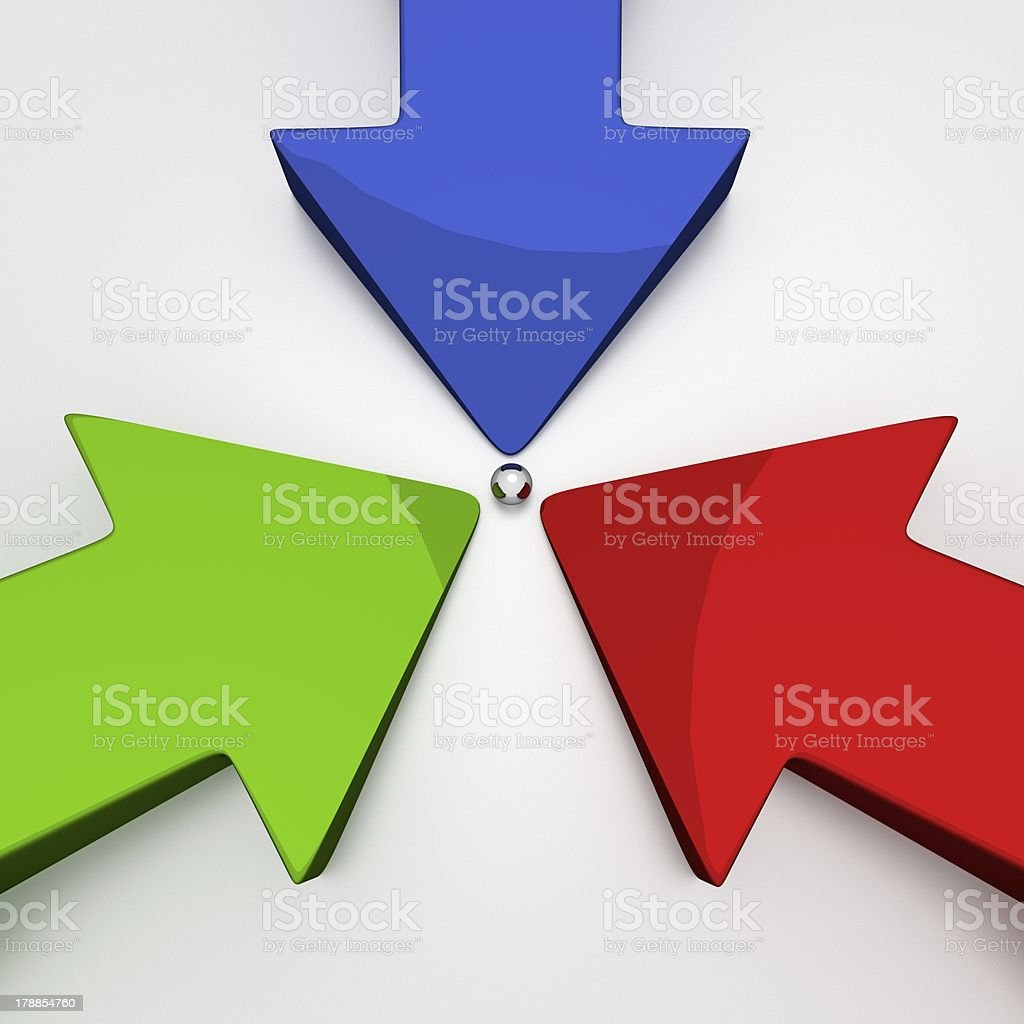 3D Arrows - Goal royalty-free stock photo