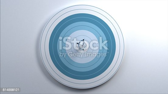 istock Arrows hit target. 514558121
