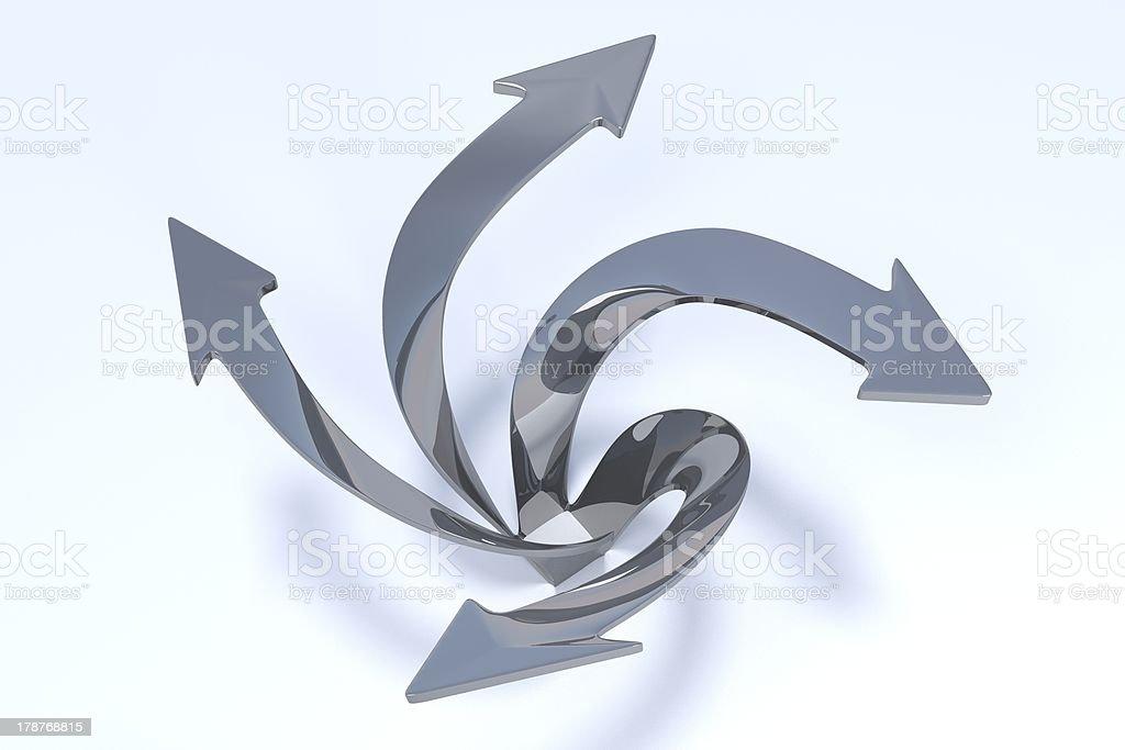 3D Arrows - Imagination stock photo