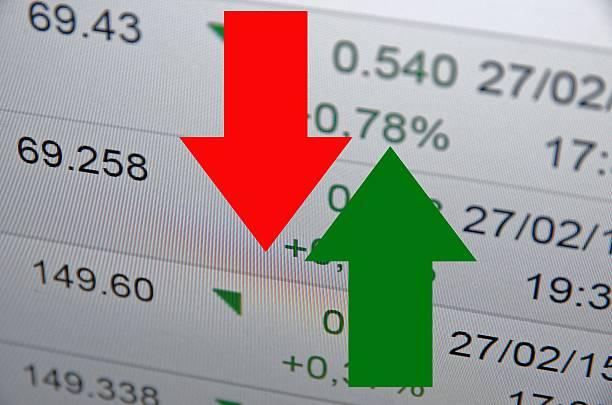 Pfeile angezeigt, stock market Aktivität – Foto