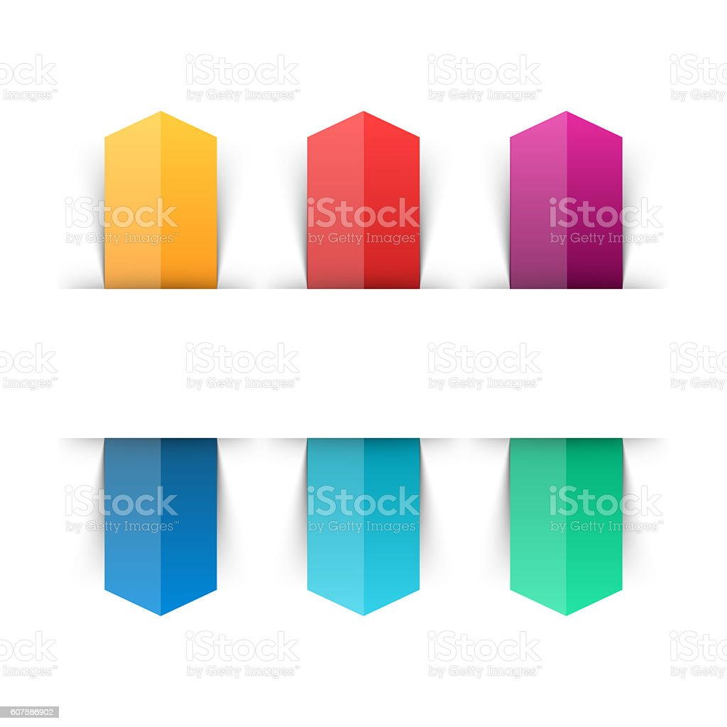 Arrows infographic, diagram chart, graph presentation. Business concept with 6 stock photo