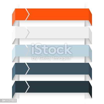istock Arrows infographic, diagram, graph, presentation, chart. Business concept with 5 541127022