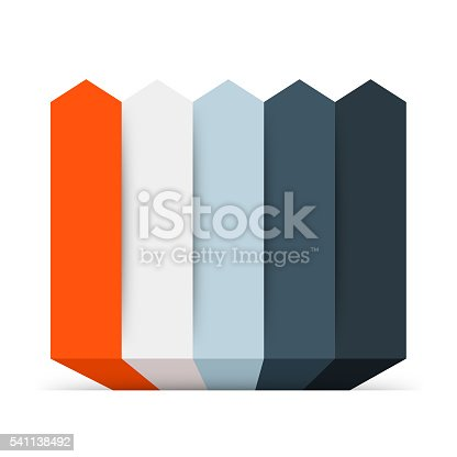istock Arrows infographic, diagram, graph, presentation, chart. Business concept with 5 541138492