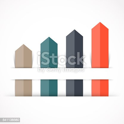 istock Arrows infographic, diagram, graph, presentation, chart. Business concept with 4 541138580