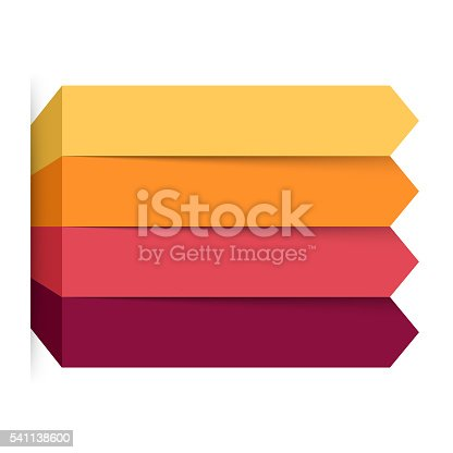 istock Arrows infographic, diagram, graph, presentation, chart. Business concept with 4 541138600