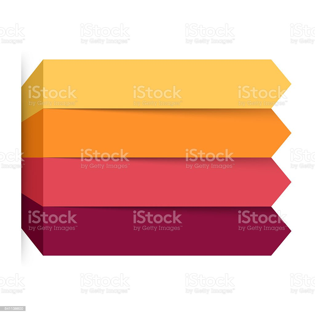 Arrows infographic, diagram, graph, presentation, chart. Business concept with 4 stock photo