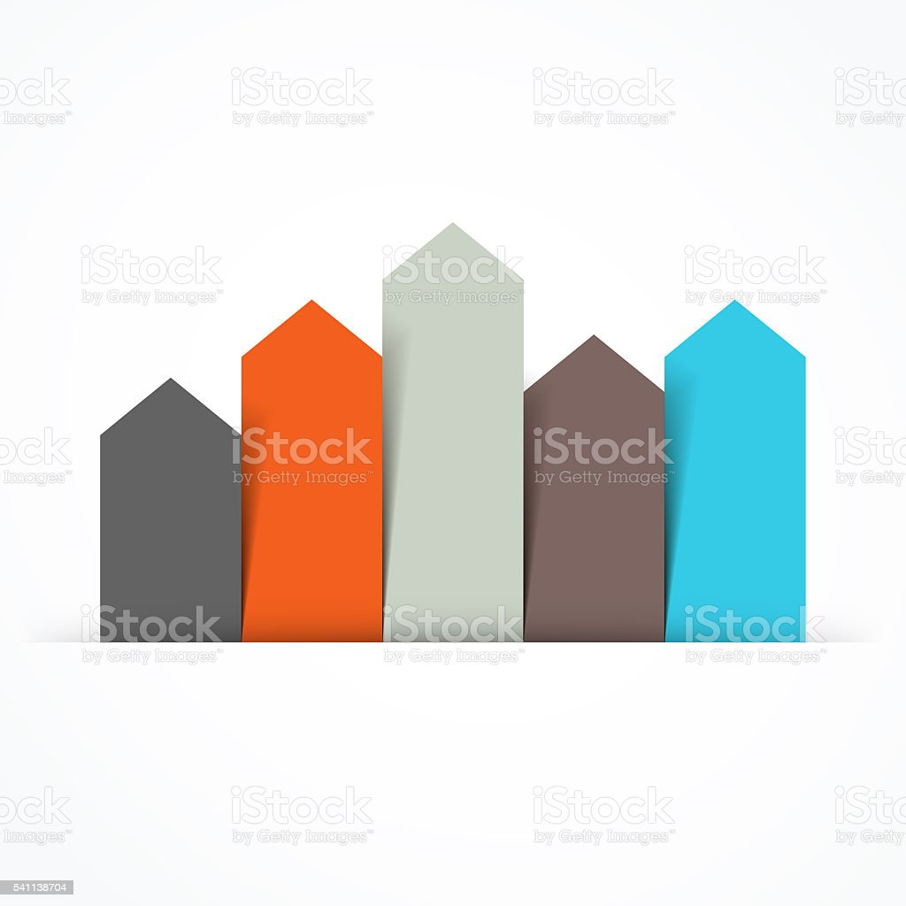 Arrows infographic, diagram, graph, presentation, chart. Business concept with 5 stock photo