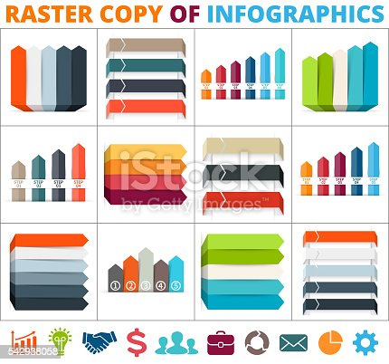 istock Arrows infographic, diagram, graph, presentation, chart. Business concept with 3 542938058