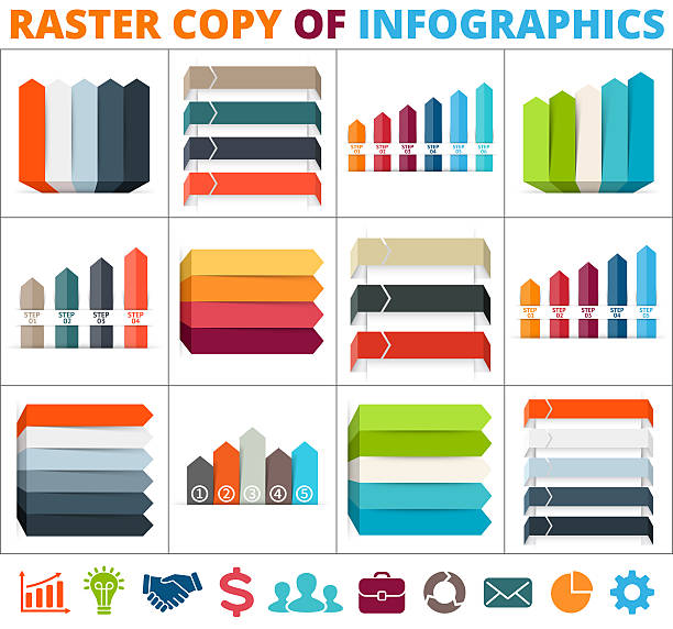 Arrows infographic, diagram, graph, presentation, chart. Business concept with 3 stock photo