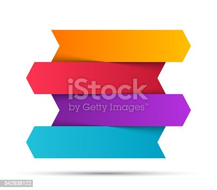 istock Arrows infographic, diagram, graph, presentation, chart. Business concept with 4 542938122