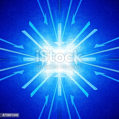 istock Arrows into the bright future 870951040
